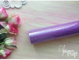 Термотрансферная пленка, Фиолетовый цвет (глитер) 500*500 мм  TPO-13